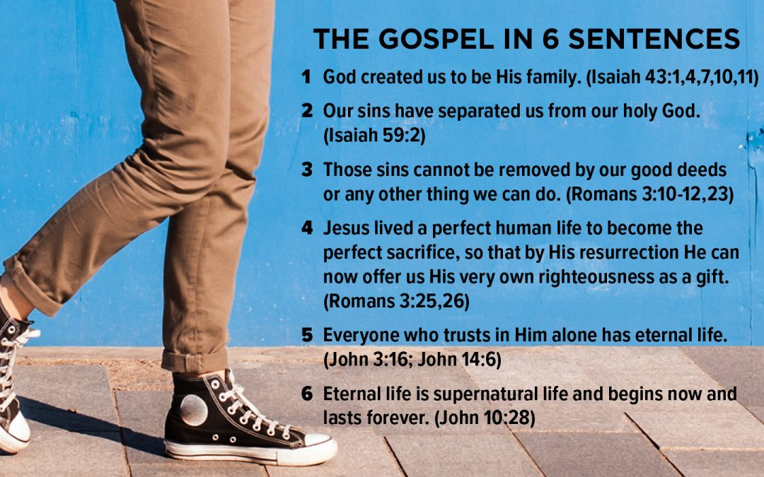 The Gospel in Six Sentences