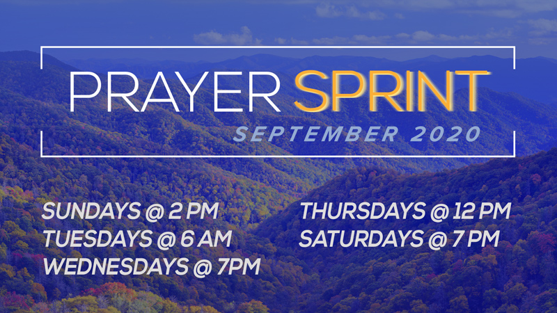 Join us for the Prayer Sprint!