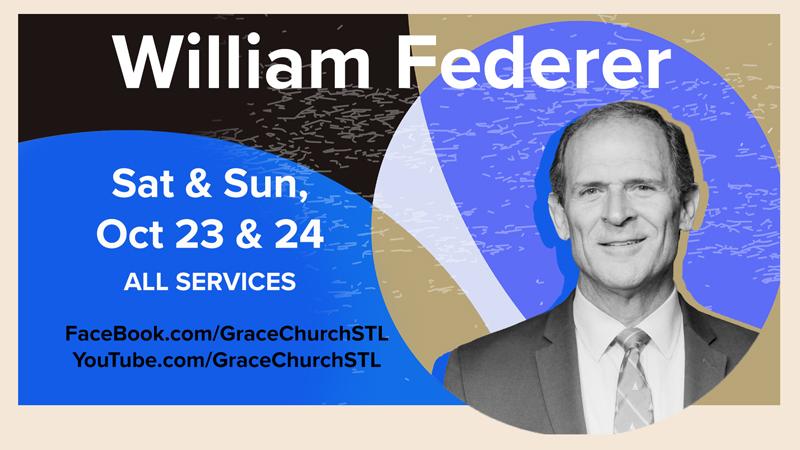 William Federer Conference Weekend